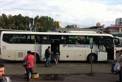 Карта с номерами автобусов
